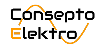Sort og oransje logo